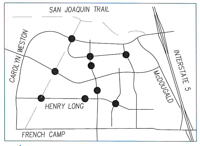 Weston Ranch Trail Crossing Map