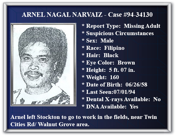 Missing Person Flyer of Arnel Nagal Narvaiz