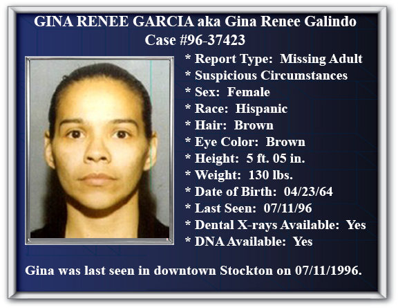 Missing Persons Flyer of Gina Renee Garcia